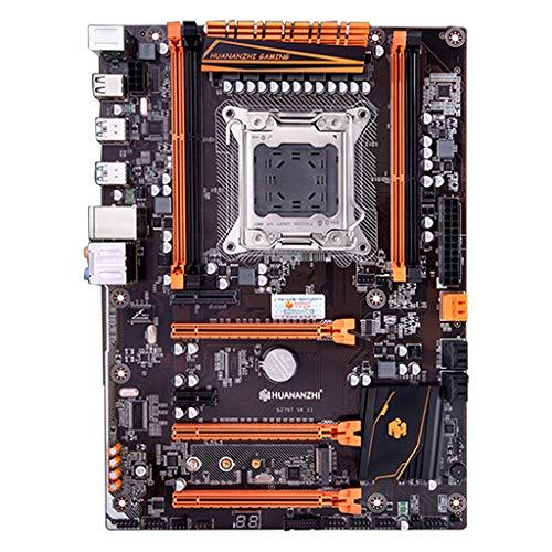 Price comparison product image huwaioury Huananzhi X79 Motherboard LGA 2011 USB3.0 SATA3 PCI-E NVME M.2 Support 4x16G REG ECC Memory and Xeon E5 Processor