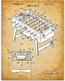 Foosball Table - 11x14 Unframed Patent Print - Great for Retro Home and Game Room Decor Under $15