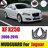 NMQQ Juego de 4 Piezas de Guardabarros para Jaguar XF 2008-2015 X250, Guardabarros Delantero Trasero, Guardabarros, Guardabarros de Goma, Accesorios para Coche