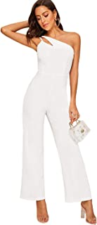 Women's Sexy Sleeveless Strappy Wide Leg High Waist Long Party Jumpsuit