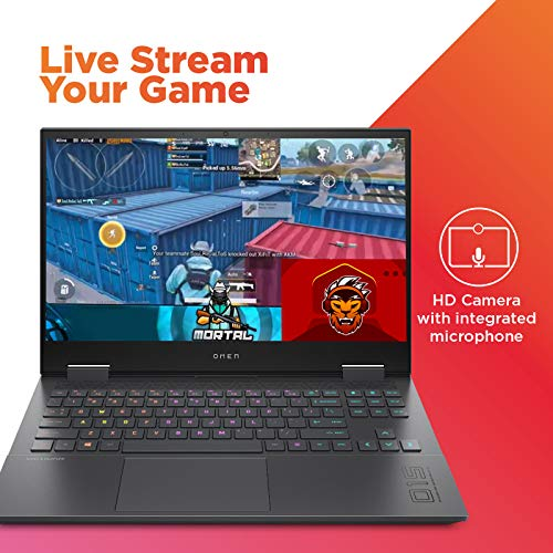 HP Omen 15.6-inch FHD Gaming Laptop (Ryzen 7-4800H/16GB/1TB SSD/Windows 10/NVIDIA RTX 2060 6GB/Shadow Black/2.37 kg), 15-en0037ax