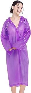 FOBHIYA® Unisex Portable EVA Fashion Rain Coat Super Soft Durable Long Rain Jacket for Outdoor & Travel with Adjustable Hood