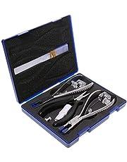 LXH-SH Tijeras de peluquería La perforación del sostenedor de los vidrios sin rebordes Marcos de Herramientas de reparación de Corte Tenazas de compresión