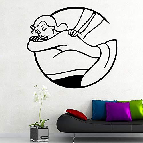 Sexy mujer salón de spa moderno arte interior decoración de pared para habitación de niños decoración del hogar mural pegatinas de pared A1 L 43 cm X 47 cm