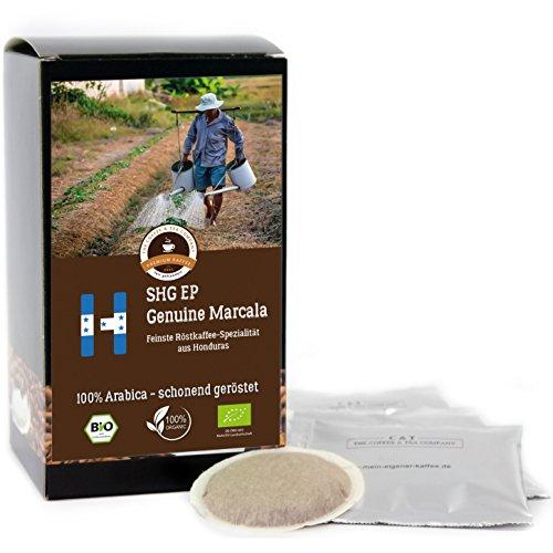 Kaffee Globetrotter - Bio Honduras Genuine Marcala - 50 Premium Kaffeepads - für Senseo Kaffeemaschine - Spitzenkaffee - Röstkaffee aus biologischem Anbau