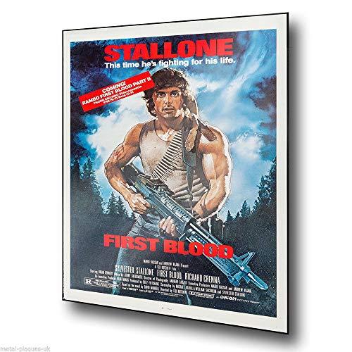 PotteLove Rambo First Blood Stallone Film-Werbeschild aus Metall