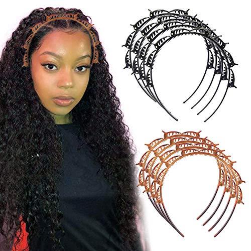8 Stück Damen Doppelschicht Stirnband Pony Haarband Clip Haarnadel Haarscheibe Twist Zopf Haar Flechten Styling Tools für Mädchen