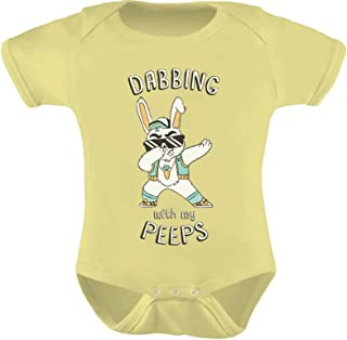 Tstars - Dabbing Bunny Funny Easter Dab Cute Baby Bodysuit