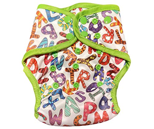 Green Diapers InfiniT AIO Overnight Cloth Diaper(One Size Fits 5-15 Kgs) (AlphaDoodle)