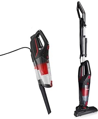 Dibea 18Kpa Corded Stick Vacuum Cleaner 2 in 1 Lightweight Upright and Handheld Vacuum, Strong Suction Multi-Layer HEPA Filter, 1L Dust Bin, 5 Height Adjustment for Hard Floor Carpet Pet Hair Dust
