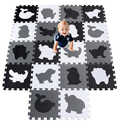 XMTMMD Baby Play Mat Animals and Foam Tiles eva Foam mat Playmat for Kids Gym Equipment Workouts Exercise Mat Interlocking Tiles Baby Floor MAT Crawling MAT Interlocking MATS AMP051G301018HBH