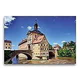 CALVENDO Premium Textil-Leinwand 75 x 50 cm Quer-Format Das alte Rathaus, Leinwanddruck von Val Thoermer