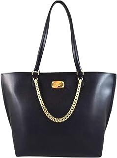 054b9dbe2b62 Michael Kors Janine Large Leather Convertible Tote,Black New