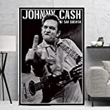 MZCYL Leinwand Malerei Wandkunst Bild Johnny Cash Rockmusik