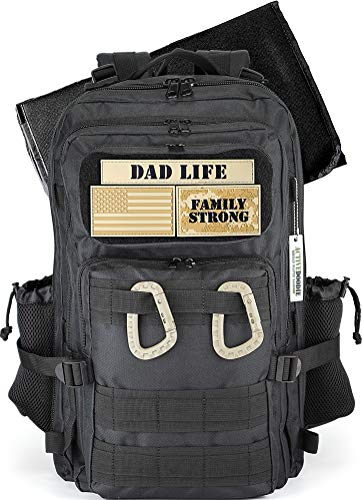 ActiveDoodie, Dad Diaper Bag for Men, Changing Pad, Stroller Straps, Bottle Pouch, Included Patches, Diaper Bag Backpack for Dad, Dad Life