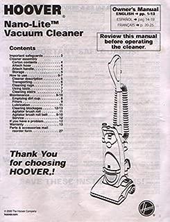 Hoover Nano-Lite Vacuum Cleaner Owner's Manual