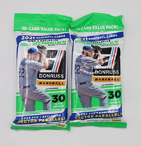 2021 Panini Donruss MLB Baseball Fat Pack - 2 Packs - 60 Cards Total - Look...