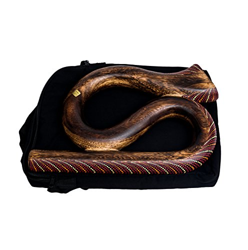 Didgeridoo S förmig Rund Reise Travel Musik Didgebox Tasche Spirale (DS3)