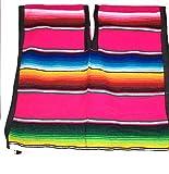 Mexican Poncho Unisex Bright Striped Cotton Mexican Style Sarape zarape Boho Hippie Kids