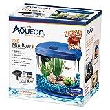 Aqueon LED Minibow Aquarium Starter Kits with LED Lighting, 1 Gallon, Blue