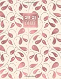 2020 - 2021 Academic Diary: Mid Year Weekly Student Planner Journal | Horizontal A4 Week to View on 2 Pages | Rose Gold Vines (2020 - 2021 A4 Academic Weekly Diaries)