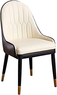 Silla de escritorio, silla de oficina, silla de madera maciza, patas de metal, silla de sala, sillas de cocina, sillón, sala de estar, sillas de ocio, silla de bañera, con respaldo y reposabrazos, es