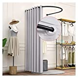 Clothing Store Fitting Room Wall Mounted Locker Room Linen Cloth Curtain Kit U Shaped Curtain Rod Protect Privacy For The Mall Office 10 Colors (Color : Pink Size : 100x95cm)