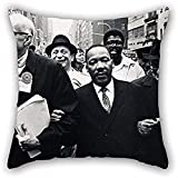 Fodera per cuscino della pittura a olio Benedict J. Fernandez-Dr. Benjamin Spock,dott. Re,monsignor Rice di Pittsburgh,marzo nella giornata di solidarietà,sfilata di For C