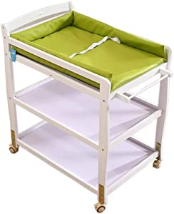 Baby care station Baby Changing Table And Casters  Wooden Child Change Table With Large Storage Space  Baby household Storage Rack