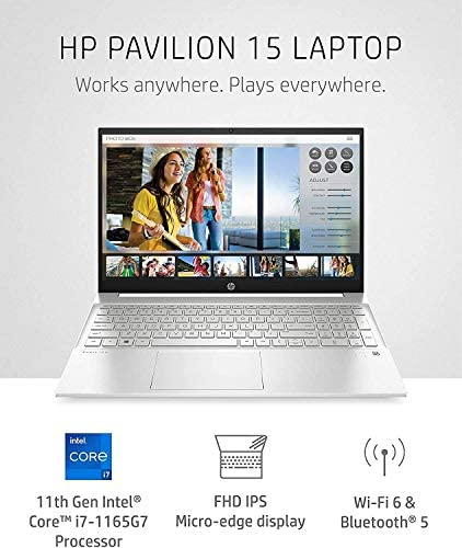 """2021 Newest HP Pavilion 15 Laptop, 15.6"""" FHD IPS Micro-Edge Display, Intel Core i7-1165G7, Intel Iris Xe Graphics, 32GB DDR4 RAM, 1TB PCIe SSD, Win 10 Pro WeeklyReviewer"""