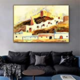 DNJKSA Walter Gramatte Old Master Artist Almeria I Cuadro Imagen Impresión en Lienzo para la decoración de la habitación Arte de la Pared 50x75cm Sin Marco