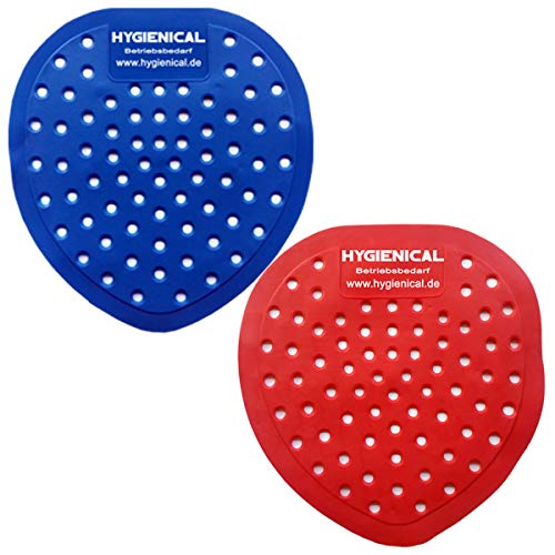 Urinalsieb, Pissoir-Einsatz, Urinaleinsatz parfümiert im SET, Urinaleinlage mit verschiedenen Düften, Farbe:rot, Menge:20 Stück