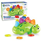 Learning Resources Steggy the Fine Motor Dino, Montessori Toys, Color Recognition, Developmental Toys, Fine Motor Toy, Ages 2+
