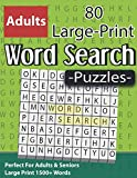 Large Print Word Search Puzzles: Perfect For Adults & Seniors: Word Search Book for Seniors And Adults & Perfect Gift For Puzzlers With Solutions ( Volume 1 )
