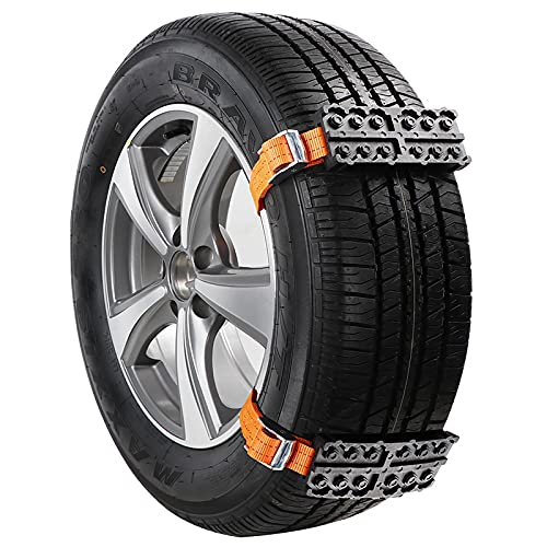 2 uds cadena de nieve para coche antideslizante cadena de rueda de emergencia para hielo / nieve / barro / arena camino de conducción segura camión SUV accesorios de coche