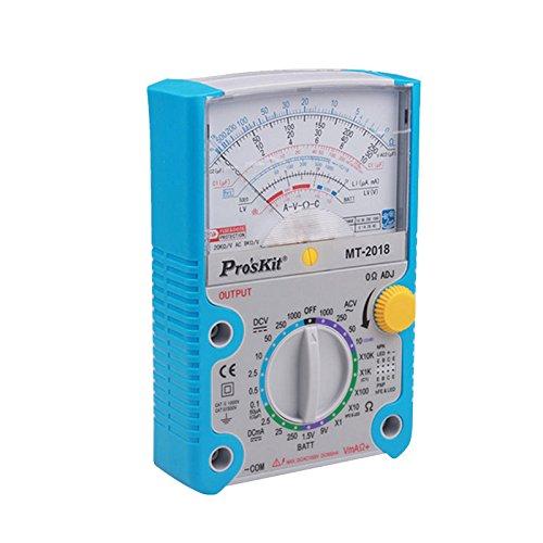 Pro \'sKit MT-2018Multímetro analógico función protectora analógico multímetro Norma de Seguridad Profesional Ohm prueba medidor DC AC voltaje Tester