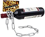Brubaker portabottiglie per Vino dal Design 'Catena Magica' con Biglietto d'auguri, Scultura in Metallo