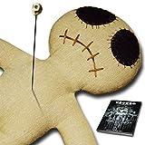Dead Eye Doll raw - Voodoo Puppe mit Voodoo Nadel und authentischer Ritual Anleitung