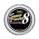 DUEL(デュエル) PEライン 1号 スーパーエックスワイヤー8 (Super X-wire 8) 200m 1号 10m×5色 ホワイトマーキング H3608