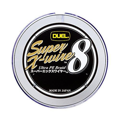 DUEL(デュエル) PEライン 0.8号 スーパーエックスワイヤー8 (Super X-wire 8) 300m 0.8号 10m×5色 ホワイトマーキング H3616