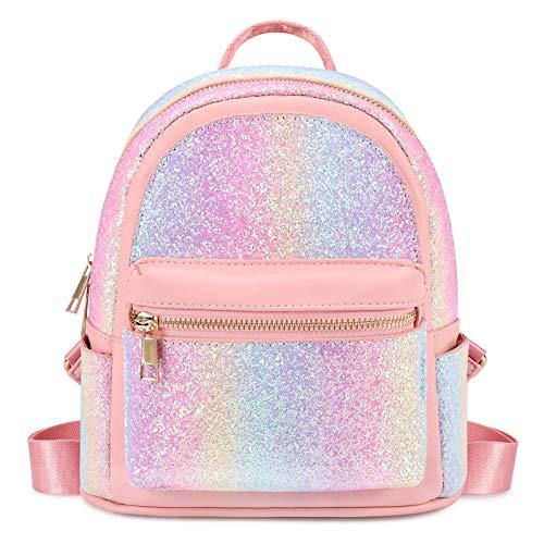Mibasies Mini Backpack for Girls Rainbow Purse
