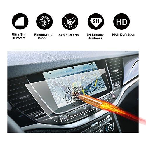 RUIYA Gehärtetem Glas Displayschutzfolie für 2017 2018 Opel Crossland X Navi 900 IntelliLink Navigations System, unsichtbare und transparente Film, Crystal Clear HD Displayschutz, Anti-Kratz[8 Zoll]