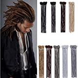 30cm-Dreadlock Extension Uomo Capelli Finti Corti per Treccia a Unicetto Treccine Rasta Dread Braids Extension–Nero Scuro