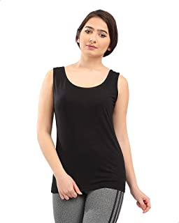 Andora Scoop Neck Basic Cotton Tank Top for Women