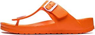Flip Flops Men Summer Beach Slippers Comfort Flat Sandals (Color : Green, Size : 41)