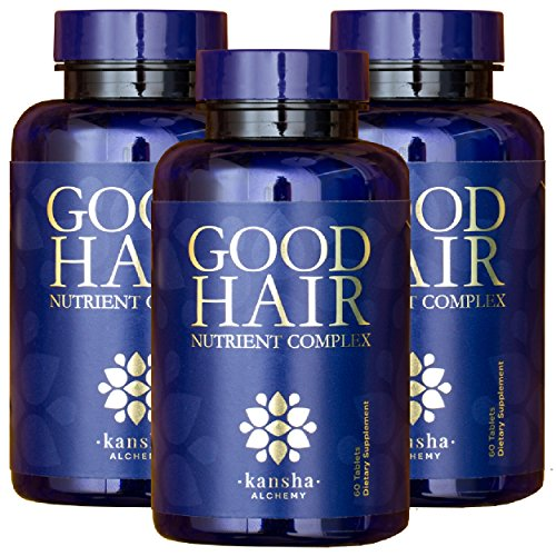3-Pack Good Hair Growth Vitamins with DHT Blocker and 5,000 mcg Biotin to Stop Hair Loss in Men and Women - for Healthier Hair, Skin and Nails, 180 Tablets