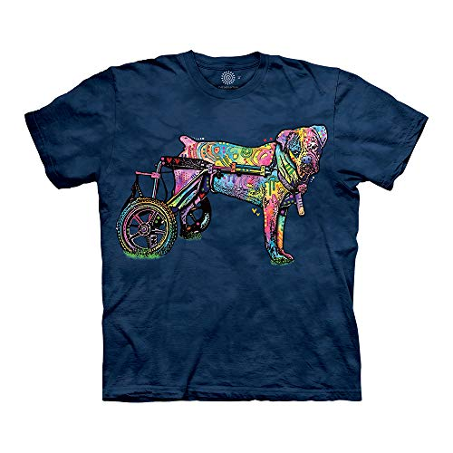 The Mountain Dog Wheelchair 100% Cotton Unisex T-Shirt - Opsa - Blue, XL