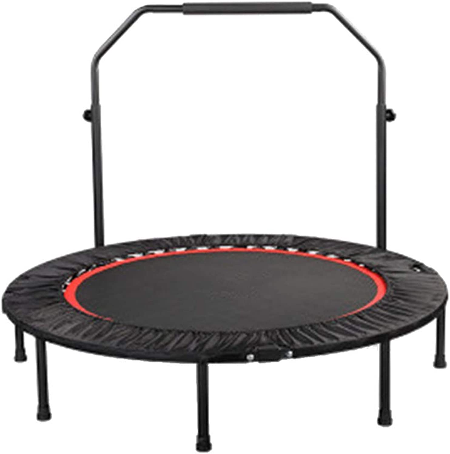 Trampolines 40 Inch with Adjustable Handrail, Folding Indoor Garden Workout Cardio Training for Kids Adults Max Load 440lbs