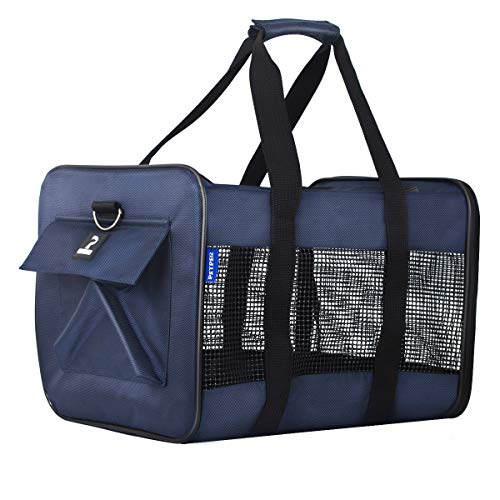 Petper CW-128 Pet Carrier Dogs Cats Soft Sided Carrier, Carrying Handbag for Outdoor Travel Walking Hiking