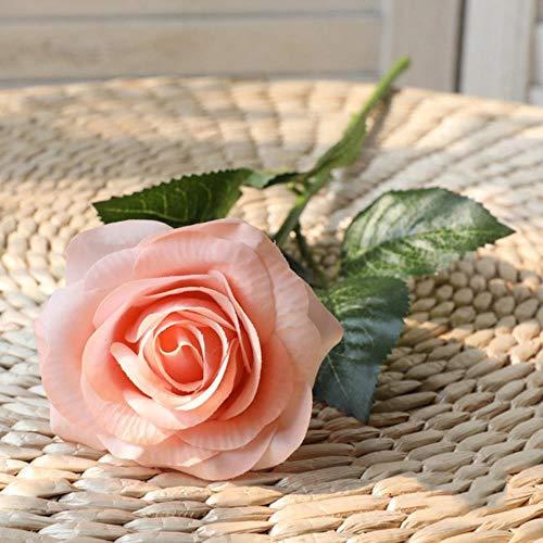 10 stuks rode roos kunstbloem echte aanraking latex bloemen faux siliconen nep roos boeket decoratie voor thuis huwelijksfeest, champagne